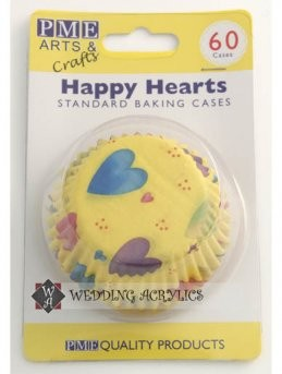 Hartie cupcake sau briosa model ,,inimioare vesele''